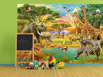 Kinder fotobehang African Animals