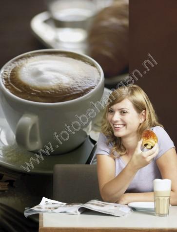 Deurposter Cafe