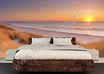 Vlies fotobehang Zonsondergang op Texel