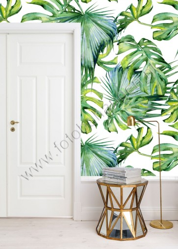 Vlies fotobehang Tropische bladeren