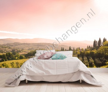 Vlies fotobehang Toscaans landschap
