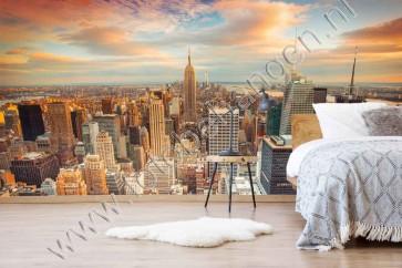 fotobehang Zonsondergang New York