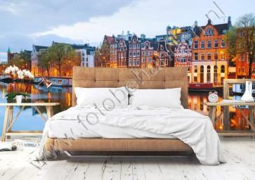Vlies fotobehang Uitzicht op Amsterdam