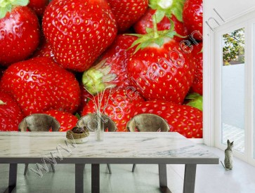 Vlies fotobehang Strawberries