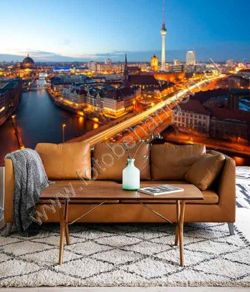 Vlies fotobehang Berlijn Panorama