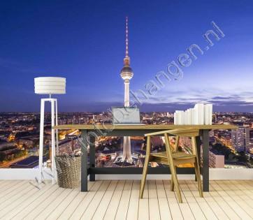 Vlies fotobehang Berlijn Skyline