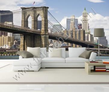 Vlies fotobehang Brooklyn Bridge overdag