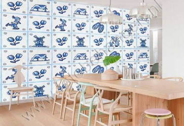 Vlies fotobehang Delfts blauw
