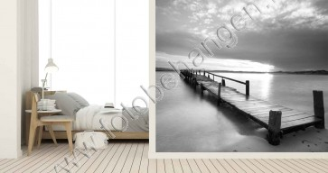 Vlies fotobehang Brug op het water
