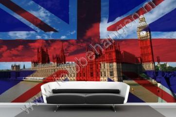 Vlies fotobehang Londen Vlag