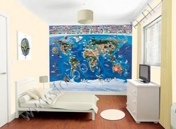 Walltastic Wereldkaart XXL