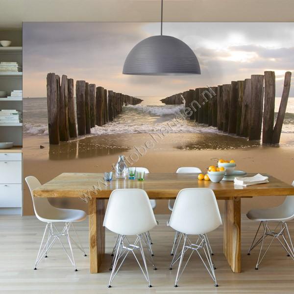 Vlies fotobehang golvend water - Decoratie van het interieur woonkamer ...