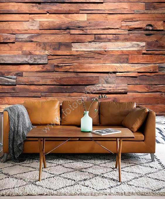 vlies fotobehang houten wand | fotobehangen.nl