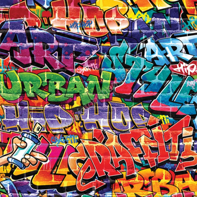 Walltastic Graffiti Wallpaper Mural: Walltastic Graffiti XL