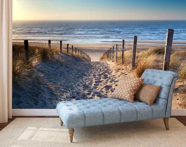 Fotobehang Strand Zee.Vlies Fotobehang Strand Noordzee Fotobehangen Nl