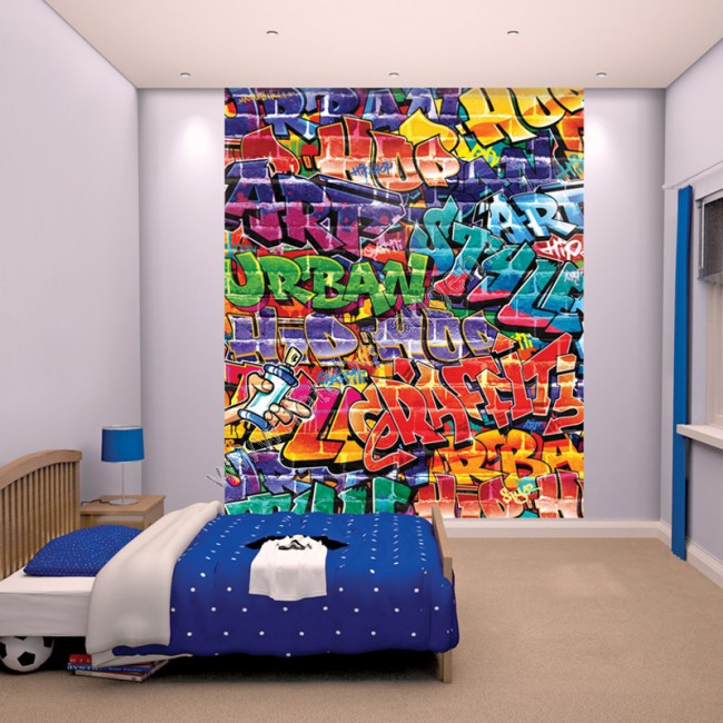 Zoom Away Vehicles Wallpaper Arthouse Cars Motorbike Boys: Walltastic Graffiti XL