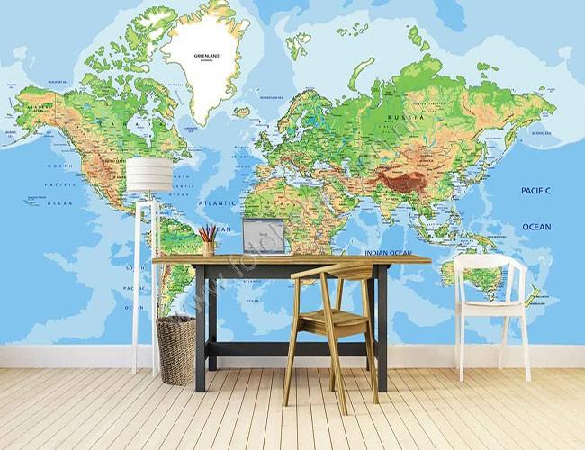 Vlies fotobehang grote wereldkaart 1 fotobehangen vlies fotobehang grote wereldkaart 1 altavistaventures Images