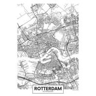 Fotobehang Plattegrond Rotterdam