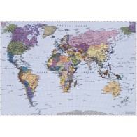 Fotobehang World map