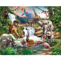 Walltastic Jungle Safari XXL