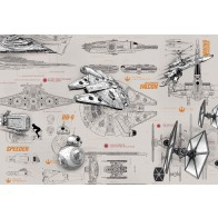 Fotobehang Star Wars Blueprints