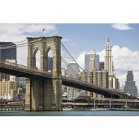 Vlies fotobehang Brooklyn Bridge overdag