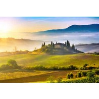 Vlies fotobehang Zonsopkomst in Toscane