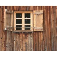 Vlies fotobehang Houten venster