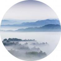 Behangcirkel Ochtend landschap