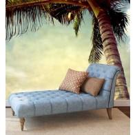 Vlies fotobehang Vintage Palmboom