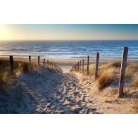 Vlies fotobehang Strand Noordzee
