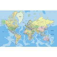 Vlies fotobehang Grote wereldkaart 2