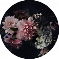Behangcirkel Vintage flowers
