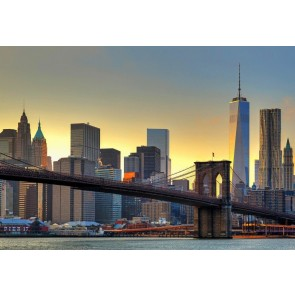 Fotobehang Brooklyn Bridge At Sunset