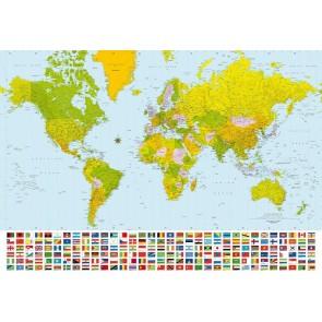 Fotobehang World Map