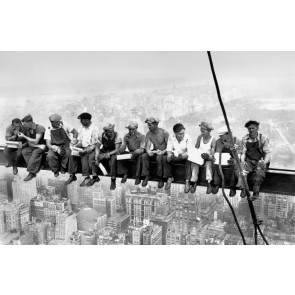 Fotobehang Eating above Manhattan