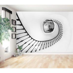 fotobehang Spiraalvormige trap