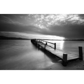 Vlies fotobehang Steiger op het water