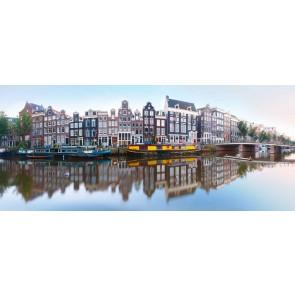 Vlies fotobehang Panorama van Amsterdam