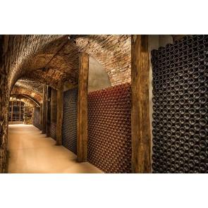 Vlies fotobehang Ondergrondse wijnkelder