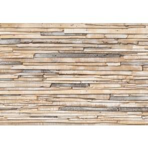 Fotobehang Whitewashed wood