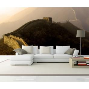 Vlies fotobehang Chinese Muur met opkomende zon