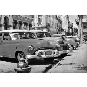 Vlies fotobehang Cuba Zwart Wit