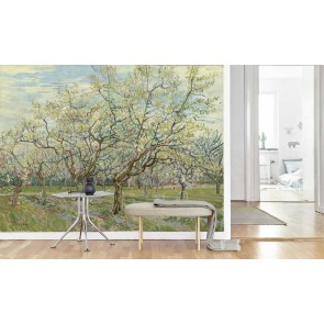 Vlies fotobehang De witte boomgaard