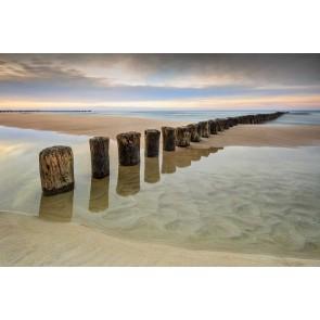 Vlies fotobehang Zonsopgang op het strand