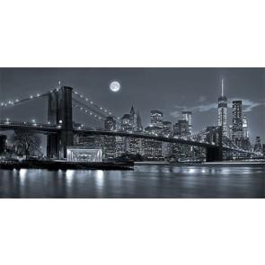 Vlies fotobehang New York bij nacht