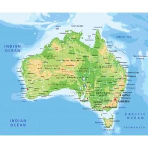 Vlies fotobehang Kaart Australië