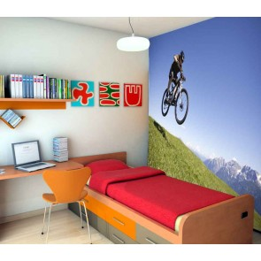 Vlies fotobehang Mountainbike