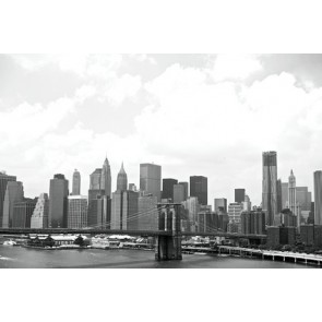 Vlies fotobehang New York in zwart-wit