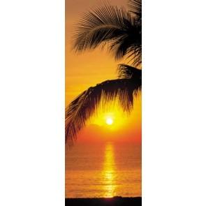Deurposter Palmy Beach Sunrise